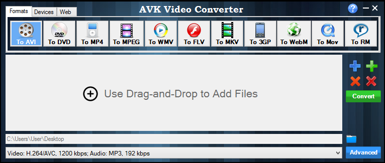 AVK Video Converter. Click to see the full-size image.
